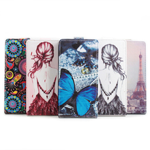 For Leagoo M8 /M8 Por Flip  up-down Color Painting Protective Holster Leather case  Free Shipping+Track Number