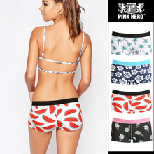 Buy Pink Heroes Women Underwear Panties Cotton Sexy Print Sexy Lingerie Ladies Flat Feet Sexy Underwear Sexy Panties Women