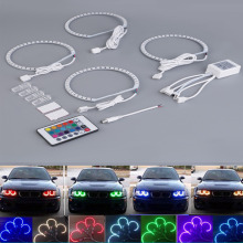 2017 New 4pcs 4*131MM Multi-Color 5050 Flash LED Car ANGEL EYES Headlight Rings kit for BMW E36 E38 E39 E46 RGB Hot Car-styling(China)