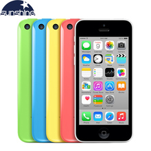 "Original Unlocked Apple iPhone 5c Mobile Phone 4"" Retina IPS Used Phone 8MP 1080P GPS IOS Multi-Language iPhone5c Cell Phones(China)"