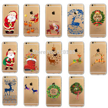 For iPhone 4s 5c 5 5s SE 6 6s 7 Plus  Cute Celebrate Christmas Tree Santa Claus Hard PC Back Cover Case