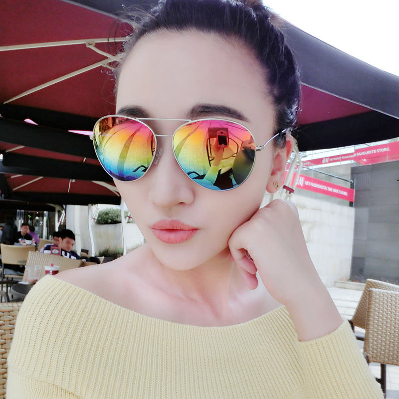 The new trend womens sunglasses polarized sunglasses super anti-uv glasses Colorful Fashion Sunglasses Unisex Sunglasses<br><br>Aliexpress