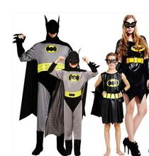 Hot Halloween Costumes Children Kids Abult Vampire Batman Costume Cosplay Fantasia Disfraces game uniforms Parent child clothing