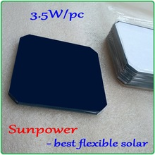 Flexible Sunpower solar cells Max 3.5W/pc DIY monocrystalline flexible solar cells panel can be bent(China)