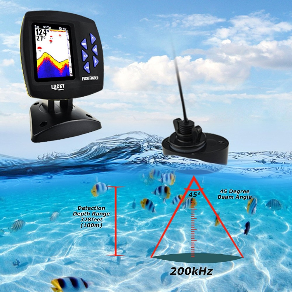 Sonar For Fishing FF918-CWLS Wireless Echo Sounder Fishing Alarm Boat Fish Finder 300m980ft For Underwater Deeper Hunting (2)
