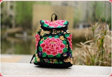 New Arrival Flower Embroidery Women's Ethnic Backpack Elegant Floral National Casual Travel Backpacks Bag Ladies Daypacks