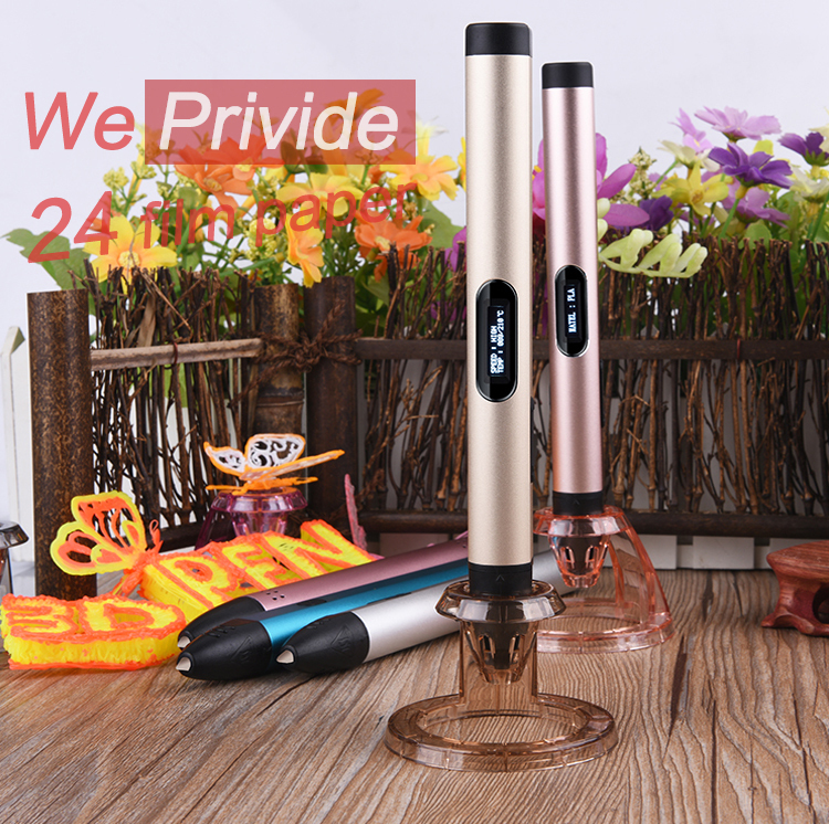 Creative Pen 1.75mm ABS/PLA DIY LED 3D Pen USB Port Adapter 3D Printing Pen Filament Intelligence Toy For Kid Design Drawing<br>