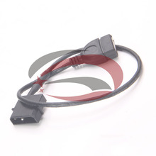 5pcs/lot---PC Internal 5V 2Pin IDE Molex to USB A Female Power Charge Cable Cord 35cm(China)
