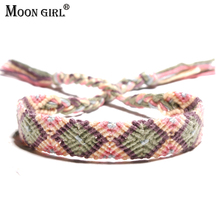 MOON GIRL Brazil Boho Hand Weave Braided Bracelets for Women Bohemian Vintage Cotton Rope Cheap Ethnic Charm Bracelets Jewelry(China)