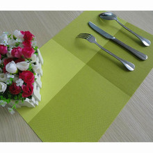 1PC 45.5cm*30.5cm Green Color Dinner Placemats PVC Place Table Mats Dinnerware Kitchen Dining Table Accessories