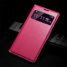 Slim Smart View Shell Auto Sleep Wake Bag Original Leather Case Flip Cover Holster For Samsung Galaxy S4 Mini I9190 I9192 I9195