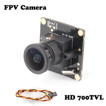 Wholesale 1pcs HD 700TVL Sony CCD PAL or NTSC FPV Camera OSD D-WDR Mini CCTV PCB FPV Tiny Wide Angle Camera 2.1mm Lens Dropship(China)