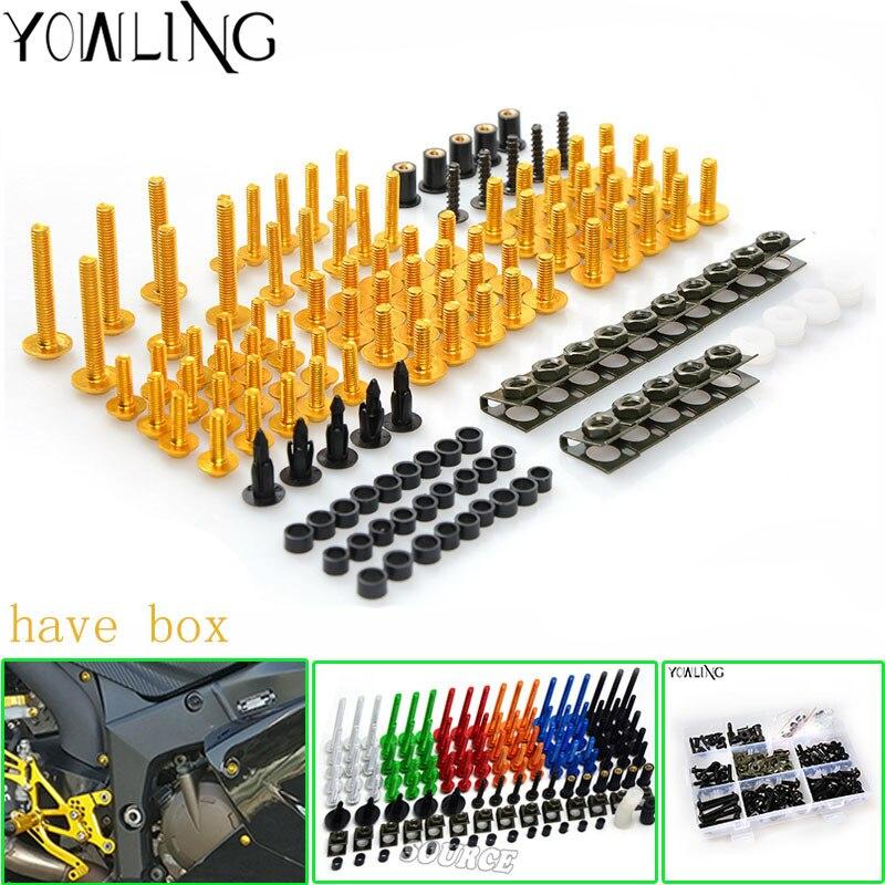 Fairing bolts For HONDA VFR800 VFR 800 800F 1998 1999 2000 2001 98 99 00 2001 Body Fairing Bolt Screw Fastener Fixation Kit<br>
