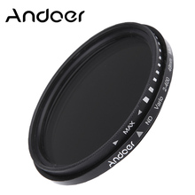 Andoer 49mm ND2 to ND400 Variable Filter ND Fader Neutral Density Filter for Canon Nikon DSLR Cameras