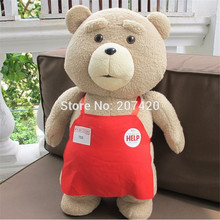 48cm Big Size Teddy Bear Ted 2 Bear Plush Toys In Apron Soft Stuffed Animal Plush Dolls For Christmas(China)