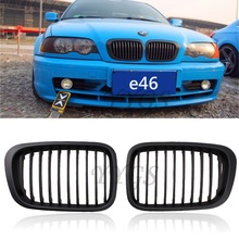 New Front Replacement Matte Black Kidney Grille Grill For BMW 1998-2001 3 Series Sedan E46 320i 323i 325i 328i 330i 4DR 4 Door