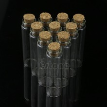 Hot Sale 10pcs 20mL Mini Small Tiny Clear Cork Stopper Glass Bottles Vials Wholesale