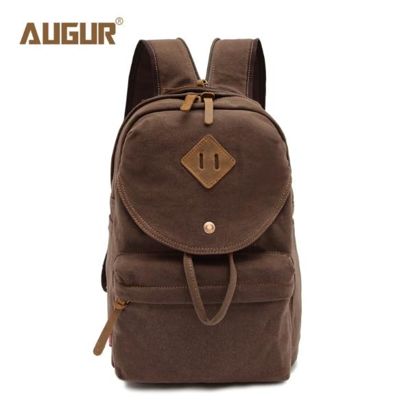 AUGUR  MENs Vintage Canvas Backpack Women Shoulder Bag High Quality School Bags For Teenagers Laptop Backpack <br>