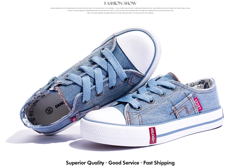 Denim Jeans Boys Sneakers Kids Shoes Girls New 2018 Brand Autumn Fashion Zip Canvas Breathable Casual Rubber Sole Children Shoes 1701 (2)