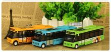 1pcs/The latest variety of alloy city bus series 1:46 school bus, bus music light model toys