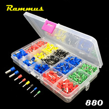 Rammus 880pcs 22-8AWG Electric Cable Connector Splice Insulated Terminal Block Kit Wire Ferrules Crimp Pin End Terminals Tools