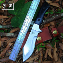 Voltron outdoor camping survival knife, high hardness tactical hunting EDC self defense sharp diving knife straight knife