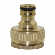 "3/4""-1"" garden Brass female Threaded Hose Water Pipe Connector Tube Snap Adaptor Fitting Garden Outdoor 16mm Hose(China)"