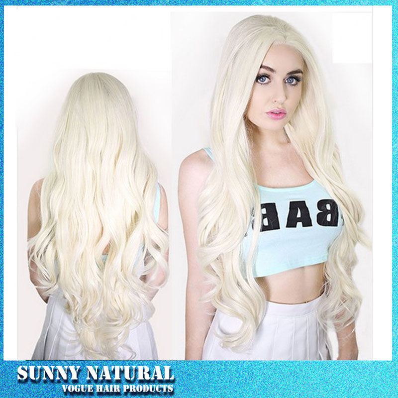 Shoulder length natural wavy hair