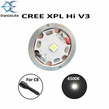 1PC NEW CREE XPL Hi V3 6500K C8 Flashlight LED Module, High Intensity LED Chip Drop-in(China)