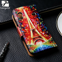 Luxury Painted PU Leather Cases For Samsung Galaxy Ace S5830 S5830I GT-S5830i 5830 3.5 inch Case Cover Card Flip Holster Housing