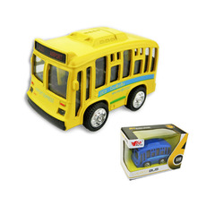 2017 Hot Sale Diecast Mini Plastic Bus Vehicle Engineering Car Big BusTruck Model Classic Toy Mini gift for Boy(China)