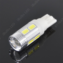1Pcs Bright T10 Car Auto LED T10 168 194 W5W 10 Smd 5630  Side Light Bulb 12V No Error Parking Projector Lens Car-Styling