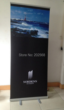 "HOT!32"" Retractable Roll Up Banner Stand Trade Show Pop Up Banner Display Free Print(China)"