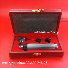Ear otoscope with bulb 2.5/3.5/4.5endoscope head medical use ear care appliance ear speculum set