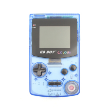 Kong Feng GB Boy Color Handheld Game Console Game Player with Backlit Blue color