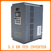 Free Shipping-Hot Sale 3 phase 5.5KW frequency inverter /Vector Inverter /Frequency converter 50Hz 60Hz/ vfd(China)