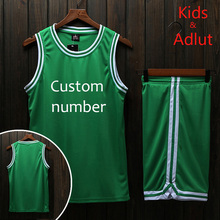 Men's and Kids Cheap Basketball Jerseys Youth Basketball Uniforms Breathable Training Football Throwback Jerseys Can be customed(China)