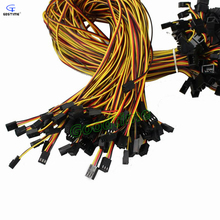 10pcs/lot Connector 3 Pin Male to 3 Pin Female Power Extension Cable Black Extending 60cm For PC Computer Cooling Fan