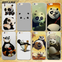 BiNFUL cute baby Kung Fu Panda anime hard clear Cases cover for Apple iPhone 7 6 6s Plus SE 4s 5 5s 5c plastic phone case(China)
