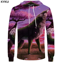 Buy KYKU Wolf Hoodie Women Hooded Sweatshirt 3d Print Hoodies Animal Clothes Womens Clothing Oversized Hoodie Winter Casual 2018 New for $14.86 in AliExpress store