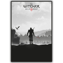 The Witcher 3 Wild Hunt Hot Game Art Silk Fabric Poster 3 Size Canvas Print Cirilla Geralt Pictures for Home Wall Decor YX596