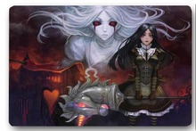 Custom 40x60cm Door Mat For Living Room Alice Madness Anime Doormat Bedroom Rug Floor Mats Christmas Gift