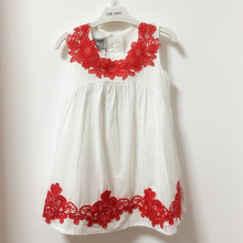 Dudu cream Promotion Good quality Girls Dress Children Clothing Casual Style Girls Clothes flower Dress Kids Clothes 2017 Spring