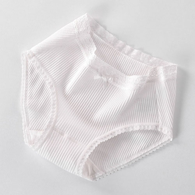 Simple Cute Cotton Women Underwear Sexy Lace Woman Panties Middle Waist Calcinha Lingerie Seamless Briefs Knickers Underpants