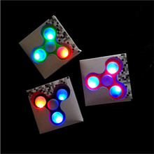 Hand LED Light Fidget Spinner Finger Plastic EDC Hand Spinner For Autism and ADHD Relief Focus Anxiety Stress Wheel Toys Gift
