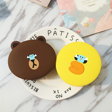 PIAGOLD Cute bear Portable Power Bank 8000mAh Universal 18650 External Battery Dual USB Port Charger For Mobile Phones(China)