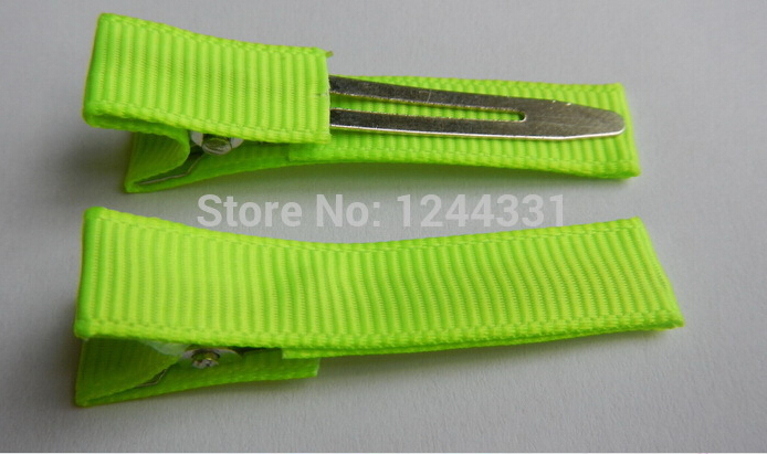 2015 new 4.5cm Solid Ribbon Covered Lined Alligator Girl Hair Clip Headwear 480pcs