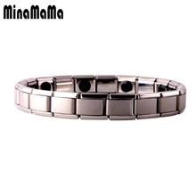 Tourmaline Energy Balance Bracelet Tourmaline Bracelet Health Care Jewelry For Women Germanium Magnetic Bracelets & Bangle(China)
