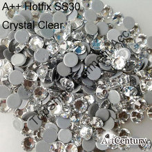 Great Comming Big Size SS30 288pcs 6mm Most Common Color Crystal Clear Hotfix Rhinestones For DIY Accessoires