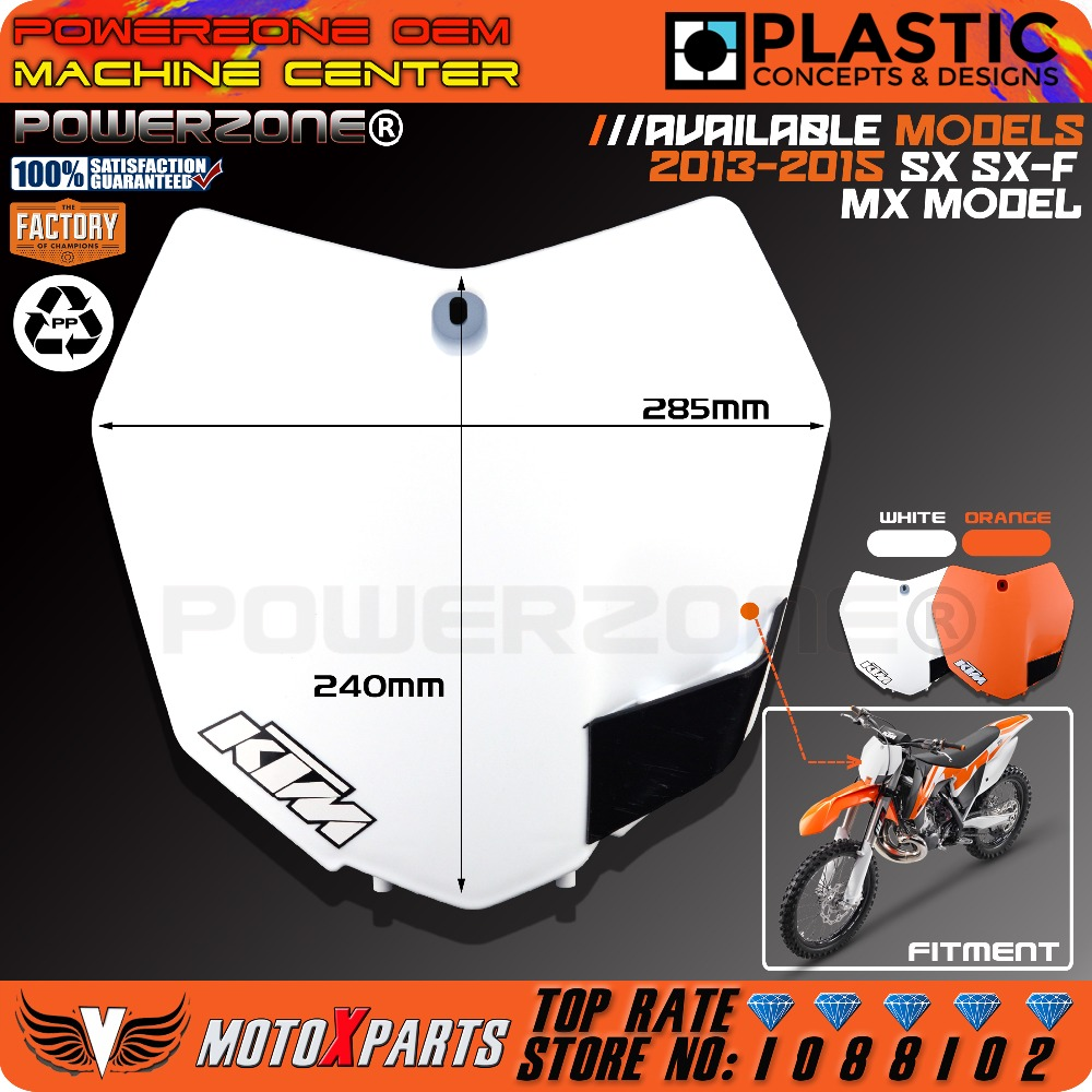 White Orange Plastic Front Name Number Plate For KTM 2013-15 SX SXF XCF 125 250 350 450 Dirt Bike Motocross Enduro Free Shipping<br><br>Aliexpress